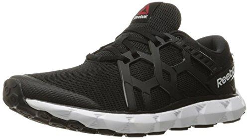 Reebok Men's Hexaffect Run 4.0 MTM Shoe, Black/White, 12 M US