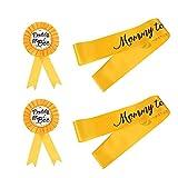 TOYANDONA 2 Conjuntos de 4pcs Baby Shower Party Party Sashes Satin Badge Corsages Satin Fashes
