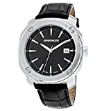 Wenger 01.1141.110 Black Dial & Leather Strap Men's Watch