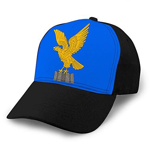 Hip Hop Baseball Cap Verstellbarer Hut mit Flacher Krempe Outdr Sport Baseball Hat Unisex Flagge von Friuli Venezia Giulia Italien Fitted Hat
