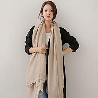 Winter Long Scarf Scarf Female Winter bib Oversized Shawl Dual-use Long Spring and Autumn Wild Solid Color Outside The Scarf (Color : Sapphire) Winter Soft Scarf (Color : Khaki)