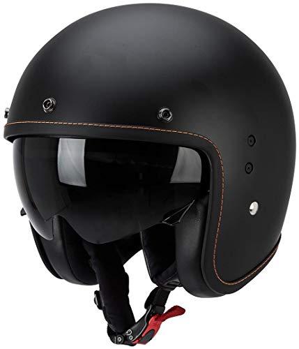 Scorpion BELFAST SOLID Motorrad Jethelm - matt schwarz Größe L