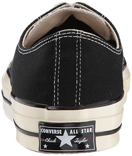 Converse - Unisex Chuck Taylor All Star 70' Low Top Shoes, Size: 4 D(M) US Mens / 6 B(M) US Womens, Color: Black/Black/Egret