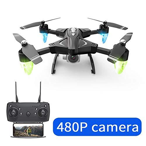RC Drohne mit Kamera HD 480P 1080P Faltbarer Luft Hubschrauber RC Long Range Wireless LAN vierachsigen Flugzeug 0.3 MP 5MP (Color : B)