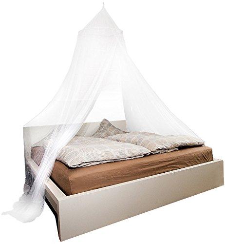 infactory Moskitonetz Bett: Moskitonetz für Doppelbetten, 190 Mesh (Mückennetz Doppelbett)