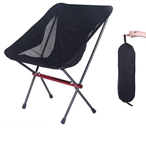 Amosiwallart Silla de Camping Plegable con Brazo Duro y portavasos y se Utiliza para Actividades al Aire Libre, Pesca, Festivales, Picnic-Negro