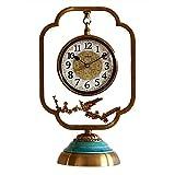 Relojes de Suelo Relojes de cobre de estilo chino Relojes y relojes Adornos Sala de estar Recepción creativa Relojes Decoración del hogar Relojes de escritorio Bronce Relojes despertadores