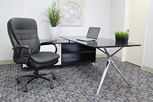 Boss Office Products Heavy Duty Double Plush CaressoftPlus Chair-400 Lbs, Black