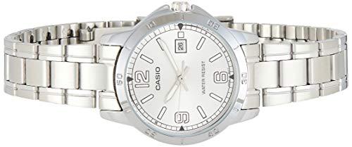 Casio LTP-V004D-7B2 Women's Dress Stainless Steel Silver Dial Date Watch