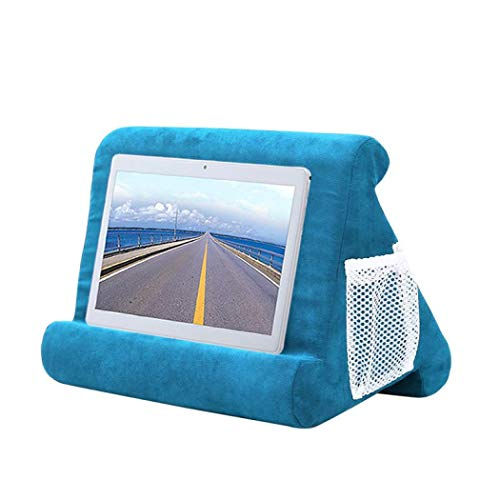 Foldable Tablet Soft Pillow Lap Holder Stand Book Rest Reading Support Cushion For iPad, Foldable Triangular, Used On Bed, Desk, Car, Sofa, Lap, Floor, Couch, Multi-Angle Soft Pillow