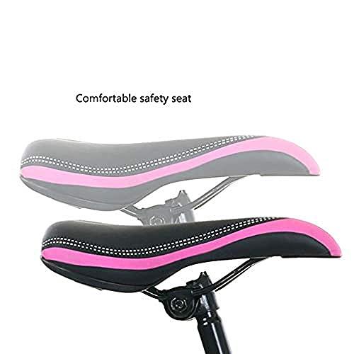 Bicicleta de montaña para niños de 20 22 de 24 pulgadas/marco de acero pequeño y con cesta para hervidor de agua de velocidad variable, apto para niños de 8 a 14 años, color morado