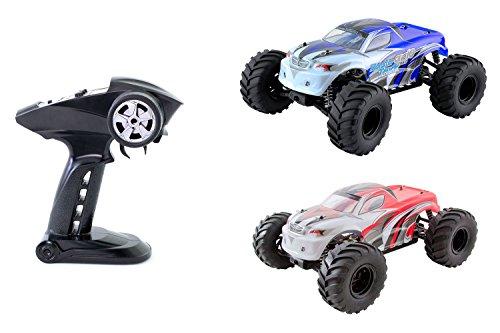 XciteRC 30309000 télécommandée RC Voiture – Monster Truck One 10 4 WD RTR modèle Voiture M1 : 10, Bleu