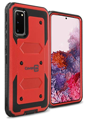 CoverON Heavy Duty Full Body Tank Series for Samsung Galaxy S20 Case - Red
