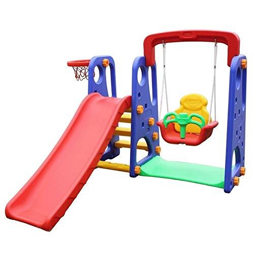 XWX Oscilación De Interior Y Exterior De Combinación Multifuncional Diapositivas Slide Swing De Jardín De Infancia del Tesoro (Color : A)