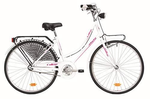 Atala Bicicletta Unisex College, Modello 2020, Telaio da 26', Misura Unica 43, Colore Bianca