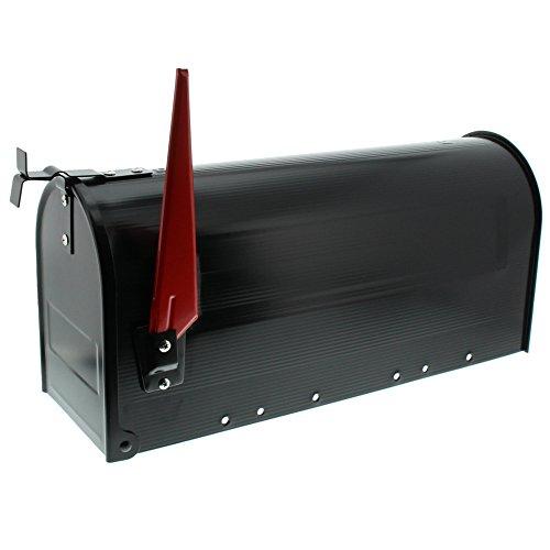 BURG-WÄCHTER Buzón americano, U.S. Mailbox con bandera abatible sin placa para nombre, Acero, US-Box 891 S, Negro (similar a RAL 9005)
