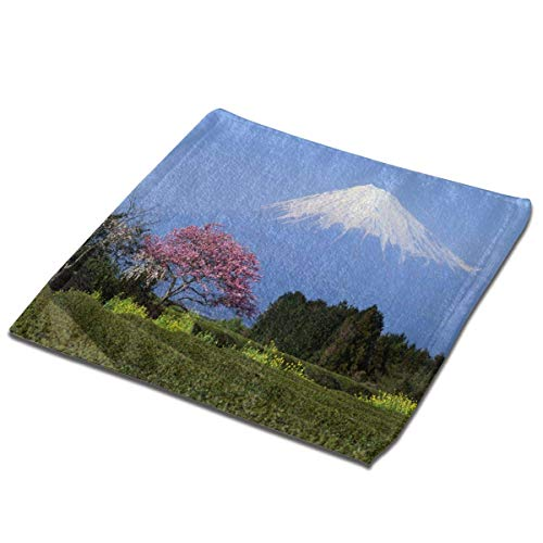 Yuanmeiju Toalla Cuadrada Journey to Japan Land of The Rising Sun Square Hand Towel Set Soft Face Wash Cloth Multipurpose Towels for Kitchen Home Bathroom Hotel Unisex
