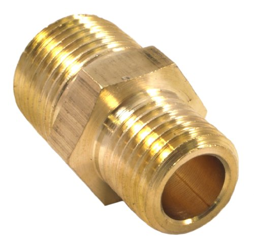 Forney 75533 Brass Fitting, Reducer Adapter, 3/8-Inch Male NPT to 1/4-Inch Male NPT