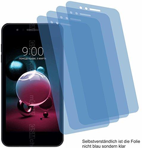 4ProTec I 4X Crystal Clear klar Schutzfolie für LG K9 Bildschirmschutzfolie Displayschutzfolie Schutzhülle Bildschirmschutz Bildschirmfolie Folie
