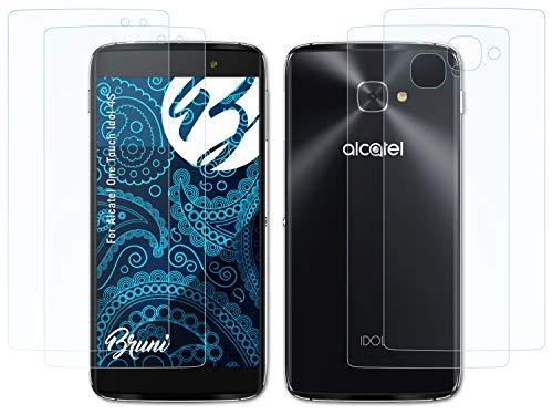 Bruni Schutzfolie kompatibel mit Alcatel One Touch Idol 4S Folie, glasklare Bildschirmschutzfolie (2er Set)