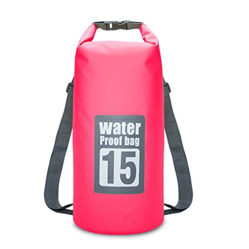 15L Plegable Impermeable Bolsa De Agua Marina Doble Hombro Adecuado para Canotaje...