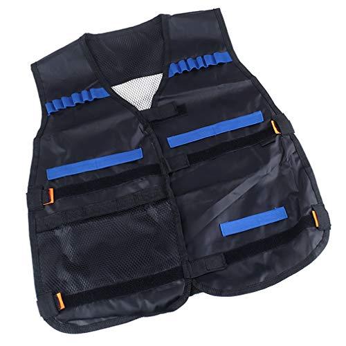 Oulensy 1pcs Adultos Combate Niños Chaleco De Entrenamiento De Soporte del Kit De Juego De Los Armas De Modelo Juguetes para La Serie Elite Balas Regalos Juguete (Negro)