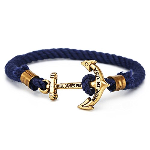 Kiel James Patrick North Star Anker-Armband Marine-Blau 5466, Kiel James Partick:16.5 Zentimeter