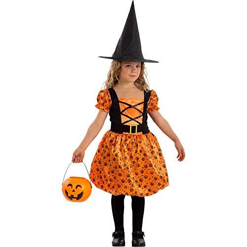 Carnival Toys heks oranje Tg IV in zak C/haak kostuum 339, meerkleurig, 8004761687717