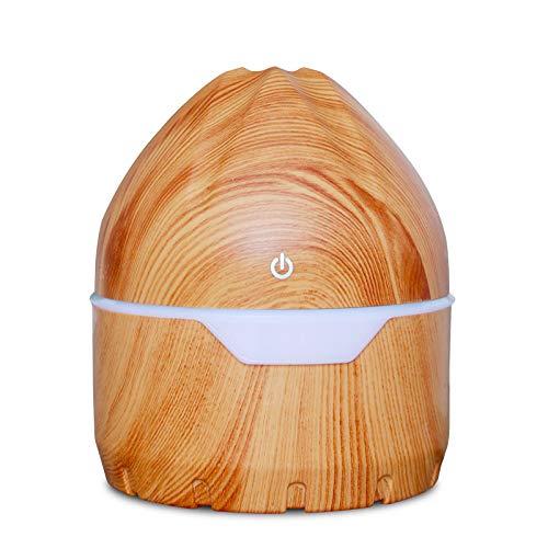 Rose Cup Umidificatore a ultrasuoni e diffusore di aromi, olio essenziale, 300 ml, timer 4 ore, 7 colori LED, funzione aromaterapia, ultra silenzioso, senza BPA, per casa e ufficio