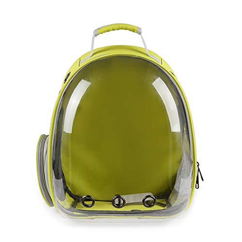 Aida Bz Pet Sac à Dos Pet Bag Out Portable Sac à Dos pour Animaux de Compagnie Sac Transparent Espace Pet Sac Chat,Yellow