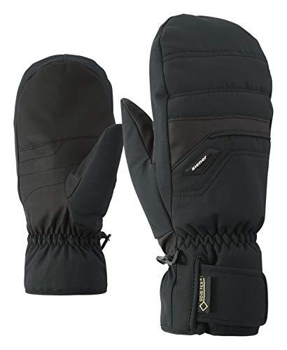 Ziener GlyNDAL GTX Gore Plus Gants de Ski Alpin Chauds pour Homme Gants de Ski / Sports d'hiver | Imperméables et Respirants (Noir), 10,5