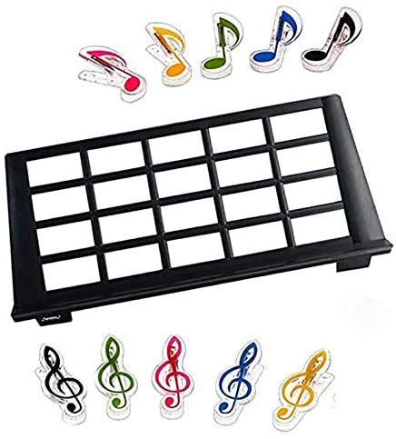 USA Keyboard Music Score Stand Sheet Musical Instrument Parts Portable Durable Holder Suitable for most 61-key 25-key 49-key keyboards +2pcs Music Sheet Clip Holder