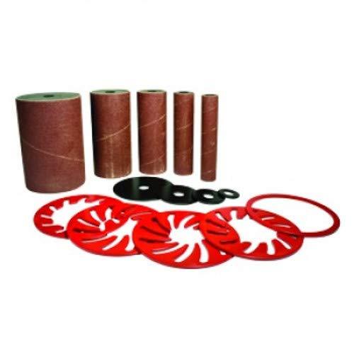 """Delta, 31-741,100 Grit 5 Piece Drum/Sleeve Sanding Kit (3/4"""", 1"""", 1-1/2"""" 2"""", 3"""") FOR B.O.S.S. Spindle Sander"""