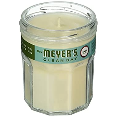 Mrs. Meyer's Clean Day Scented Soy Candle, Small Glass, Basil, 4.9 oz