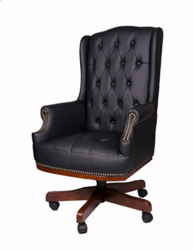 Fine Chairs MANAGERS EXECUTIVE DIRECTORS CHESTERFIELD ANTIQUE CAPTAIN STYLE PU LEATHER OFFICE DESK CHAIR FURNITURE HIGH BACK