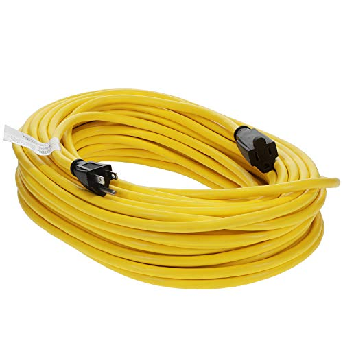 Otimo 100 Ft 14/3 SJTW Outdoor Extension Cord - 3 Prong Extension Cord, Yellow