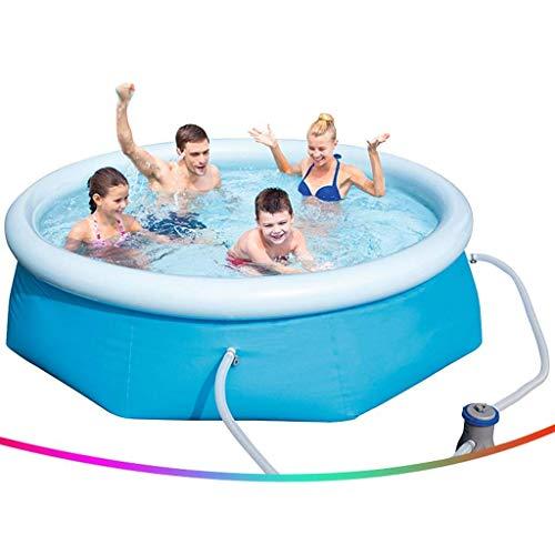 Piscinas inflables Piscinas casa grande de tres capas engrosadas piscina niños adultos al aire libre Piscina for niños sin necesidad de instalación Con filtro de la bomba (Color: Azul, Tamaño: 10 pies