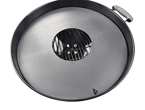 Feuerplatte | Grillring | Grillplatte | Plancha - Passend für Weber 47er Kugelgrill - Der Neue Grill-Trend (für 47er Kugelgrill)