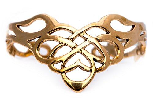 Windalf Keltischer Frauen Armreif RIGANA Ø 5.5 cm Keltischer Schmuck Hochwertige Bronze