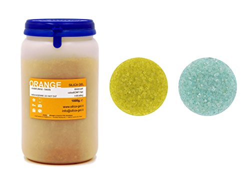 Kieselgel/Silicagel Orange - 1000 g flasche - Dimethylfumarat frei - Cobalt Frei