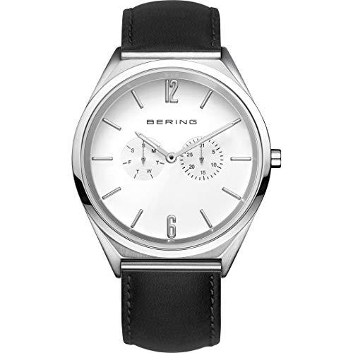 Bering Reloj multifunción para hombre con mecanismo de cuarzo y correa de piel 17140-404