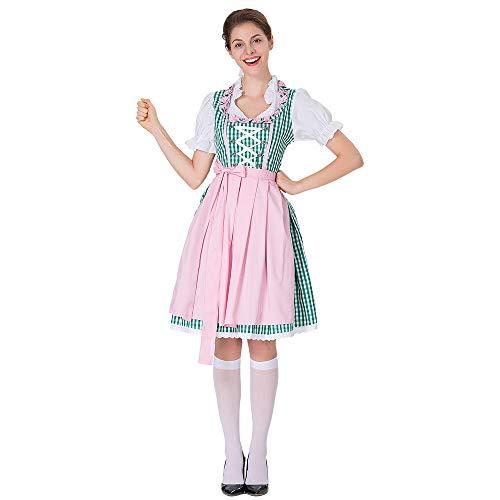 Eaylis Cosplay Kleid Oktoberfest DienstmäDchen KostüM KostüM Kleid Rot, Pink, Blau Beinhaltet 1PC Kleid +1 X Gürtel