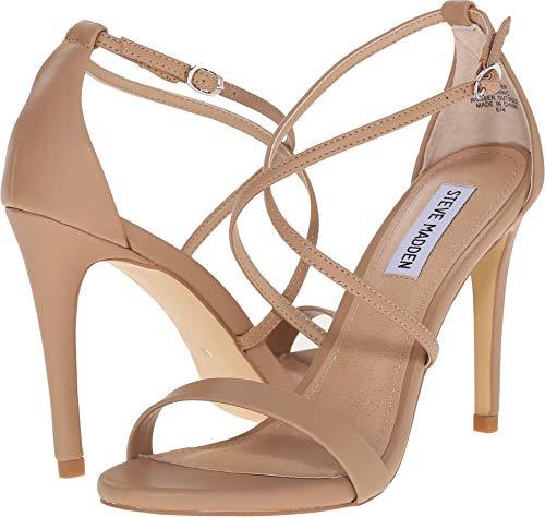 Steve Madden Women's Feliz Dress Sandal, Natural, 10 M US