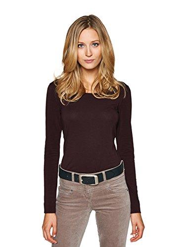 TOM TAILOR für Frauen Belts Leder-Gürtel im Used-Look, Black, 100
