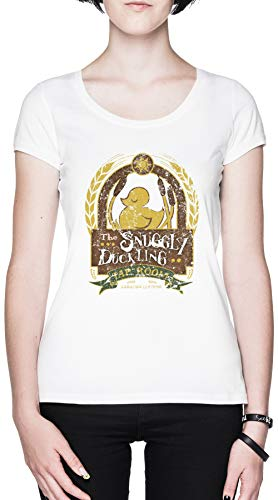 The Snuggly Duckling Blanca Mujer Camiseta Tamaño XL White Women's tee Size XL