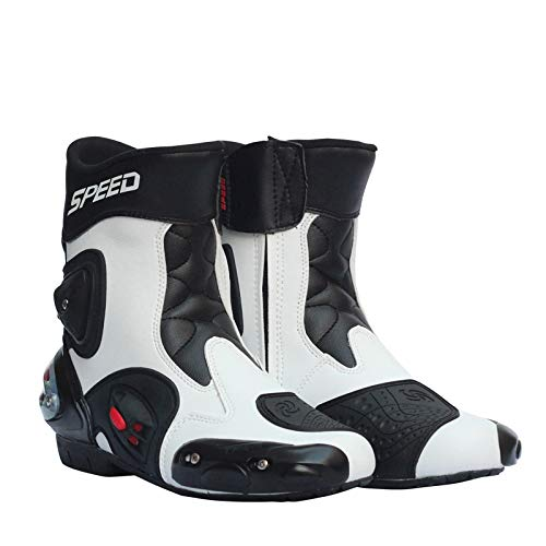 XuBa - Botas de Piel para Motocicleta, Motocicleta, Motocross y Moto