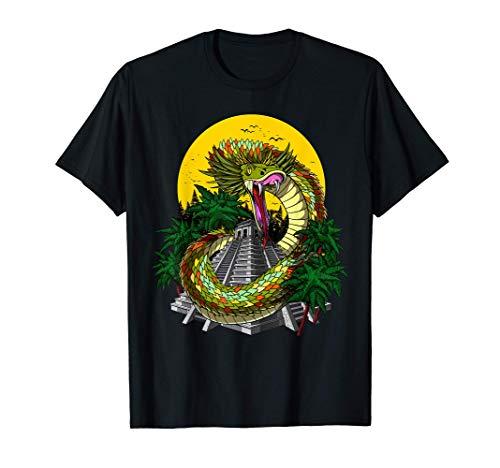 Quetzalcoatl Aztec God Ancient Mayan Pyramids Mythology T-Shirt