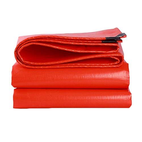 Verdikt dekzeil dekzeil waterdicht rood plastic waterdichte stof buitenste doek voor zonnescherm luifel zonnebrandcrème Truck op maat ondersteuning (Afmetingen: 3 × 6 m) 5×10m