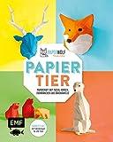 PAPIERtier: Papercraft mit Fuchs, Hirsch, Erdmännchen und Bärenfamilie - Komplett-Set mit Vorlagen für alle Tiere