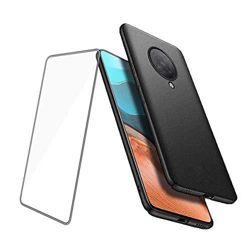 TANKLE Hülle Compatible für Xiaomi Poco F2 Pro Hülle Ultra Dünn Schutzhülle Anti-Fingerprint Matt Hard PC Handy Schale Hochwertigem Leichte Hardcase Handyhülle (Color : Black, Size : Poco f2 pro)